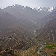 View to the Hindu Kush from pass on Tajik side of the Wakhan Valley