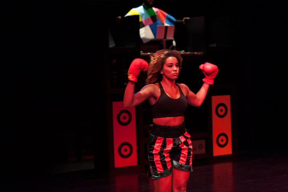 Dress rehearsal for Derrick Adams's The Channel, BAM, 19 September 2012.