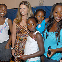 First Lady Maria Shriver meets and greets at the Santa Monica YMCA during the National Center on Addiction Substance Abuse's (CASA) Family Day - A Day to Eat Dinner with Your Children(TM) on Tuesday, September, 28, 2010.