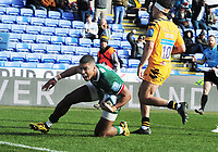 Rugby Union - 2019 / 2020 Gallagher Premiership - London Irish vs. Wasps<br /> <br /> Ben Loader of London Irish celebrates scoring their second try, at Madejski Stadium.<br /> <br /> COLORSPORT/ANDREW COWIE