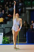 Ilaria Giovannelli atleta della società Putinati di Ferrara durante la seconda prova del Campionato Italiano di Ginnastica Ritmica.<br /> La gara si è svolta a Desio il 31 ottobre 2015.