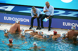 July 24, 2018 - Barcelona, Spain - the coach Alessandro Campagna (Italy) during the match between Italy and Russia, corresponding to the women group stage of the European Water Polo Championship, on 19th July, 2018, in Barcelona, Spain. (Credit Image: © Joan Valls/NurPhoto via ZUMA Press)