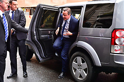 © Licensed to London News Pictures. 08/04/2016. London, UK. DAVID CAMERON arrives for the Conservative Party Spring Forum in central London.  Conservative party leader and British prime minster David Cameron has come under pressure after it was revealed that he had  investment in an offshore fund.  Photo credit: Ben Cawthra/LNP