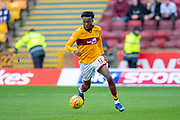 Gboly Ariyibi (#12) of Motherwell FC during the Ladbrokes Scottish Premiership match between Motherwell FC and Heart of Midlothian FC at Fir Park, Stadium, Motherwell, Scotland on 17 February 2019.
