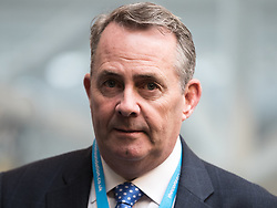 © Licensed to London News Pictures . 17/03/2017 . Cardiff , UK. DR LIAM FOX at a Business Breakfast at the Conservative Party Spring Conference at the SSE SWALEC Stadium in Cardiff . Photo credit: Joel Goodman/LNP