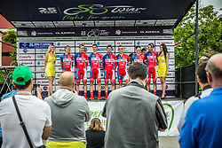Team Adria Mobil during 1st Stage of 25th Tour de Slovenie 2018 cycling race between Lendava and Murska Sobota (159 km), on June 13, 2018 in  Slovenia. Photo by Vid Ponikvar / Sportida