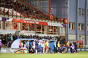 Activity on the benches during the Betfred Super League match between Hull Kingston Rovers and Huddersfield Giants at the Hull College Craven Park  Stadium, Hull, United Kingdom on 21 February 2020.