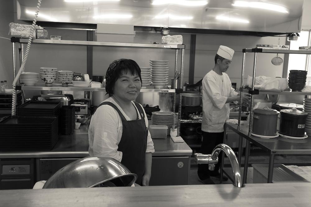 Miyuki Sato, owner of Takechan, restaurant in Naraha