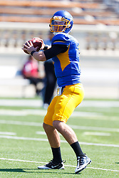 September 24, 2011; San Jose, CA, USA;  San Jose State Spartans quarterback Matt Faulkner (7) warms up before the game against the New Mexico State Aggies at Spartan Stadium.