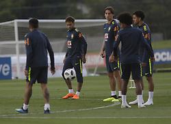 May 25, 2018 - Rio De Janeiro, Brazil - Brazilian player Neymar in interview after training at Granja Comari in Teresopolis Rio de Janeiro today May 25, 2018. (Credit Image: © Fabio Teixeira/NurPhoto via ZUMA Press)