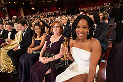 Regina King with her Oscar® during the live ABC telecast of The 91st Oscars® at the Dolby® Theatre in Hollywood, CA on Sunday, February 24, 2019.
