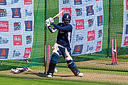 (Caption Correction) Dawid Malan of England doing batting practice in the nets before the International T20 match between England and India at the SWALEC Stadium, Cardiff, United Kingdom on 6 July 2018. Picture by Graham Hunt.