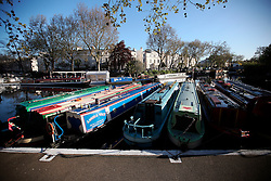 UK ENGLAND LONDON 2MAY16 - London Canal boats on permanent moorings at Little Venice, Maida Vale, west London.<br /> <br /> jre/Photo by Jiri Rezac<br /> <br /> © Jiri Rezac 2016
