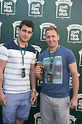 30/04/2014. Connacht Rugby's Tiernan O'Halloran and Dan Parks at the Jameson Cult Film Club screening of The Usual Suspects in the Black Box Galway. <br />  .Photo:Andrew Downes
