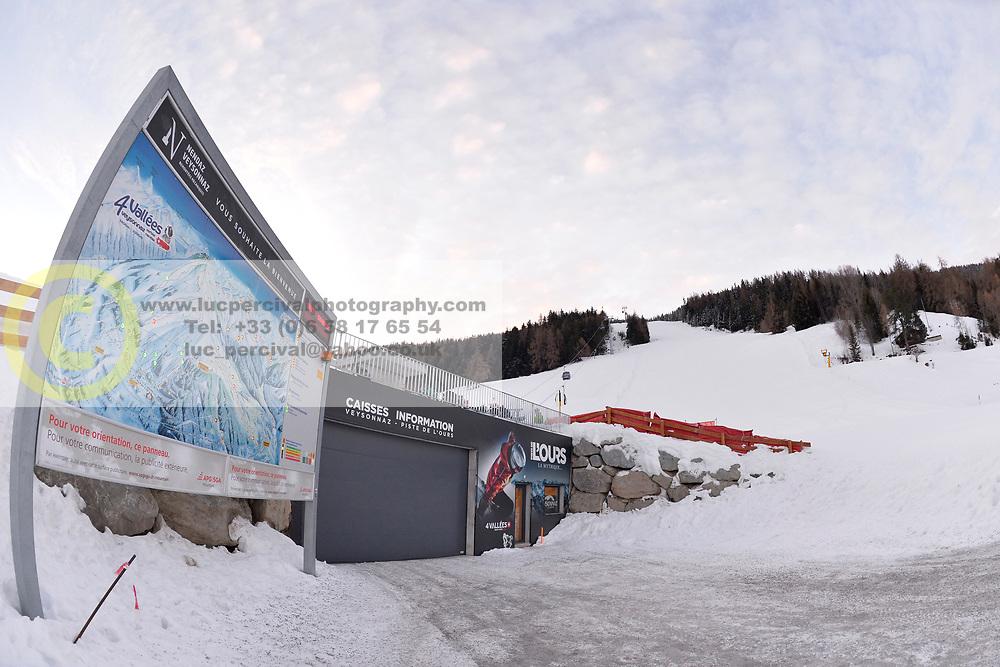 Behind the scenes on Training Day at 2018 World Para Alpine Skiing Cup, Veysonnaz, Switzerland