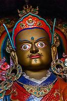 Buddha statue, Hemis Monastery, Ladakh, Jammu and Kashmir State, India.