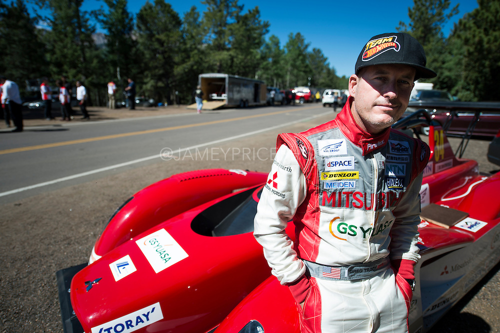 June 26-30 - Pikes Peak Colorado. Greg Tracy and his Mitsubishi Pikes Peak car.