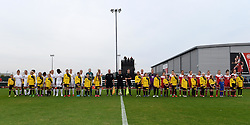 Players, officials and mascots line-up - Mandatory by-line: Paul Knight/JMP - Mobile: 07966 386802 - 04/10/2015 -  FOOTBALL - Stoke Gifford Stadium - Bristol, England -  Bristol Academy Women v Liverpool Ladies FC - FA Women's Super League