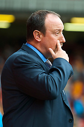 LIVERPOOL, ENGLAND - Saturday, September 26, 2009: Liverpool's manager Rafael Benitez before the Premiership match against Hull City at Anfield. (Photo by: David Rawcliffe/Propaganda)