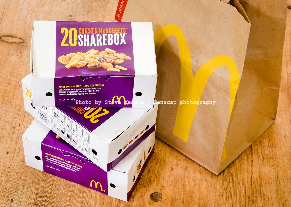 London England April 25 2014 Box Of Mcdonalds Chicken