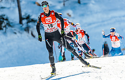 29.01.2017, Casino Arena, Seefeld, AUT, FIS Weltcup Nordische Kombination, Seefeld Triple, Langlauf, im Bild Tim Hug (SUI) // Tim Hug of Switzerland during Cross Country Gundersen Race of the FIS Nordic Combined World Cup Seefeld Triple at the Casino Arena in Seefeld, Austria on 2017/01/29. EXPA Pictures © 2017, PhotoCredit: EXPA/ JFK