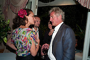 ANDREA DELLAL; COUNT Leopold von Bismarck;, Dinner hosted by Elizabeth Saltzman for Mario Testino and Kate Moss. Mark's Club. London. 5 June 2010. -DO NOT ARCHIVE-© Copyright Photograph by Dafydd Jones. 248 Clapham Rd. London SW9 0PZ. Tel 0207 820 0771. www.dafjones.com.
