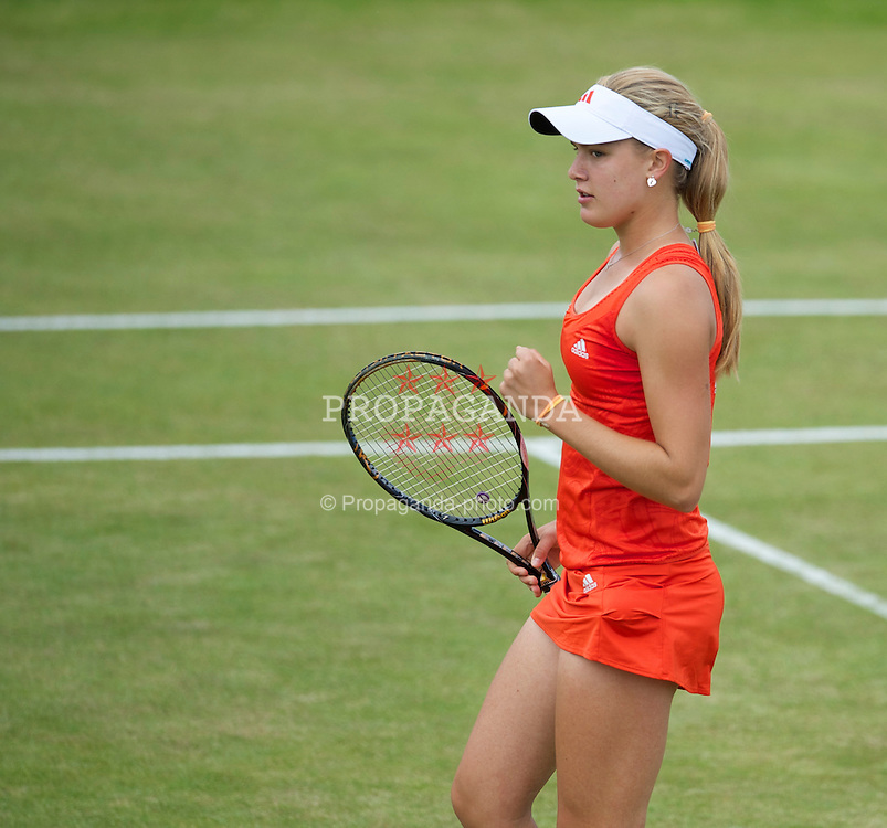 LIVERPOOL, ENGLAND - Saturday, June 19, 2010: Eugenie Bouchard (CAN) during the Ladies' Singles Final on day four of the Liverpool International Tennis Tournament at Calderstones Park. (Pic by David Rawcliffe/Propaganda)
