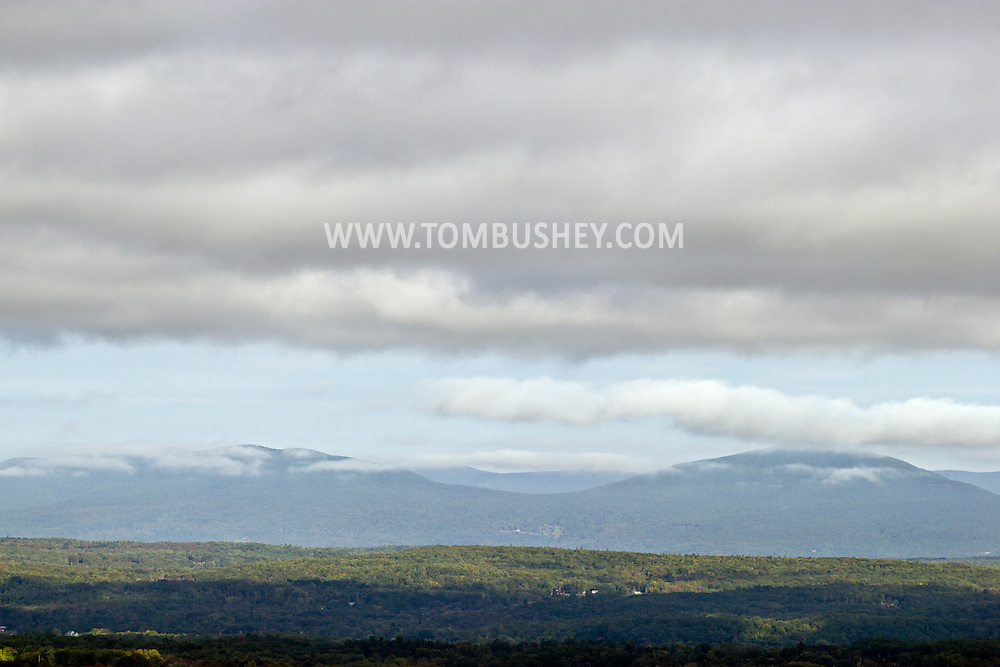 New Paltz, New York - The Million Dollar View of the Catskills seen from the Mohonk Preserve during the Shawangunk Ridge Trail Run/Hike 20-mile race on Sept. 20, 2014.
