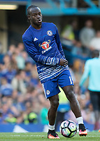 Football - 2016/2017 Premier League - Chelsea V West Ham United. <br /> <br /> Victor Moses of Chelsea ahead of the match at Stamford Bridge.<br /> <br /> COLORSPORT/DANIEL BEARHAM
