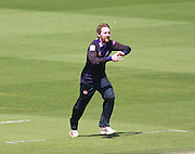 Gloucestershire bowler Tom Smith during the NatWest T20 Blast South Group match between Sussex County Cricket Club and Gloucestershire County Cricket Club at the BrightonandHoveJobs.com County Ground, Hove, United Kingdom on 17 May 2015. Photo by Bennett Dean.