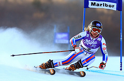 Tenth placed after first run Tessa Worley of France skiing in first run of Maribor women giant slalom race of Audi FIS Ski World Cup 2008-09, in Maribor, Slovenia, on January 10, 2009. (Photo by Vid Ponikvar / Sportida)