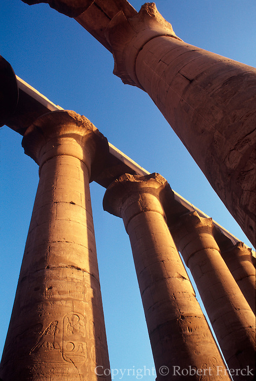EGYPT, THEBES, LUXOR TEMPLE the Great Colonade built by Amenophis III
