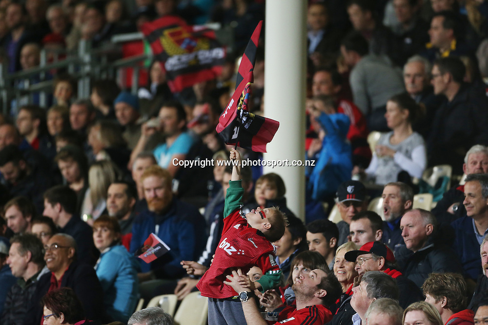 Fan<br /> ITM Cup match between Canterbury and Wellington, held at AMI Stadium, Christchurch, New Zealand, 12 September 2014. Credit: www.photosport.co.nz