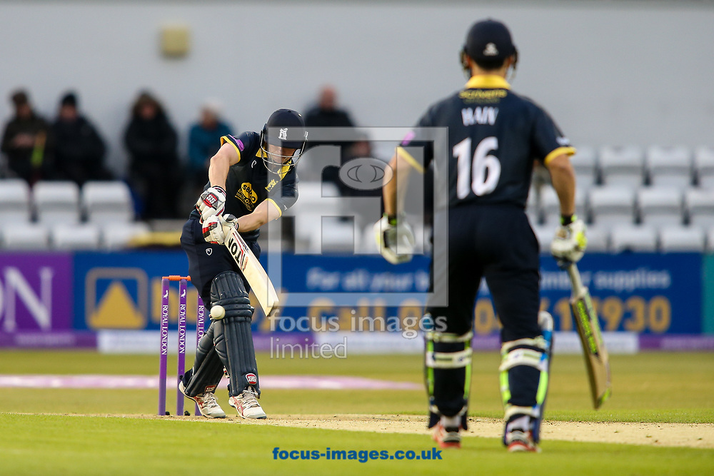 William Porterfield of Warwickshire CCC (left) pulls during the Royal London One Day Cup match at the County Ground, Northampton<br /> <br /> Picture by Andy Kearns/Focus Images Ltd 0781 864 4264<br /> 27/04/2017