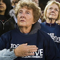 Thousands of mourners attended a public memorial service at the University of Arizona following the mass shooting in Tucson on Saturday, January 8, 2011.
