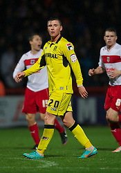 STEVENAGE, ENGLAND - Saturday, November 24, 2012: Tranmere Rovers' Michael O'Halloran in action against Stevenage during the Football League One match at Broadhall Way. (Pic by David Rawcliffe/Propaganda)