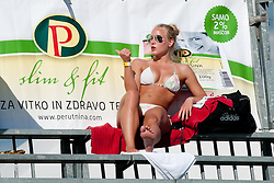 Hot girl in bathing suit at Beachmaster 2011 tournament for Slovenian BeachTour on July 22, 2011, in Ptuj, Slovenia. (Photo by Matic Klansek Velej / Sportida)