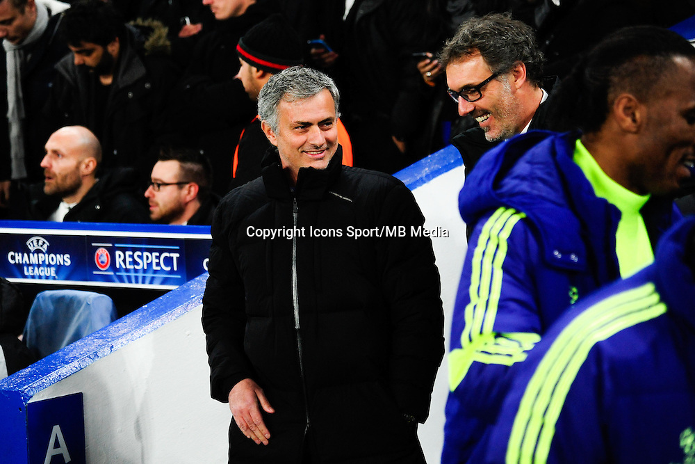 Jose MOURINHO / Laurent BLANC - 11.03.2015 - Chelsea / Paris Saint Germain - 1/8Finale retour Champions League<br /> Photo : Dave Winter / Icon Sport