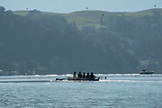 """Lucerne, SWITZERLAND, 12th July 2018, Friday, general View,  rowing on Luzern"""", """"Seeclub, Lucerne"""" """"Lake Lucerne',  Photographer, Karon PHILLIPS,"""