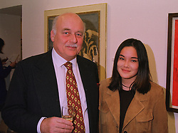 LORD TANLAW and his daughter the HON.ASIA MacKAY at an exhibition in London on 3rd December 1997.MDY 2