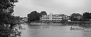 Mortlake/Chiswick. Greater London. London. 2017 Bourne Regatta At Chiswick Bridge. Course, Runs from and to Mortlake Anglian and Alpha Boathouse, dependent on the Tide Direction. Chiswick.  River Thames. <br /> <br /> General view, Crews racing by Hartington Court.<br /> <br /> Saturday  06/05/2017<br /> <br /> [Mandatory Credit Peter SPURRIER/Intersport Images]