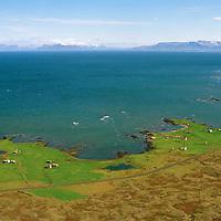 Knarrarnes séð til norðurs, Sveitarfélagið Vogar áður Vatnsleysustrandarhreppur / Knarrarnes viewing north, Sveitarfelagid Vogar former Vatnsleysustrandarhreppur.