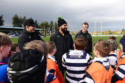 Cooper Vuna, Jamie Shillcock and Ryan Mills deliver coaching sessions at Stourbridge RFC  - Mandatory by-line: Dougie Allward/JMP - 19/03/2017 - Rugby - Stourbridge RFC - Stourbridge, England - Worcester Warriors Community Rugby