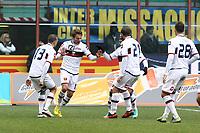 """Esultanza di Ciro Immobile Genoa.Goal celebration.Milano 22/12/2012 Stadio """"S.Siro"""".Football Calcio Serie A 2012/13.Inter v Genoa.Foto Insidefoto Paolo Nucci."""