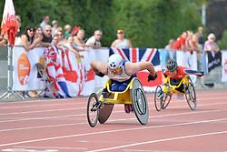 03/08/2017; Agnew, Jack, T54, GBR, Wakiyama, Riku, JPN at 2017 World Para Athletics Junior Championships, Nottwil, Switzerland