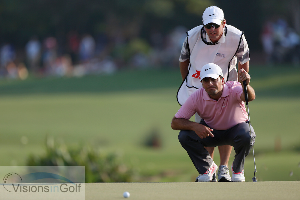 Francesco Molinari<br /> during the second round of the Race To Dubai DP World Tour Golf Championship, Dubai, UAE November  2013<br /> Picture Credit:  Mark Newcombe / www.visionsingolf.com