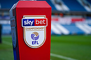 A view of the plinth with the Sky Bet Championship logo during the EFL Sky Bet Championship match between Huddersfield Town and Leeds United at the John Smiths Stadium, Huddersfield, England on 7 December 2019.