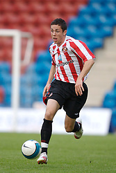 Widnes, England - Tuesday, September 4, 2007: Sunderland's Billy Dennehy in action against Everton during the Premier League Reserve match at the Halton Stadium. (Photo by David Rawcliffe/Propaganda)