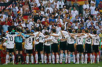 Photo: Glyn Thomas.<br />Germany v Sweden. Second Round, FIFA World Cup 2006. 24/06/2006.<br /> The German team lines up for the national anthem.