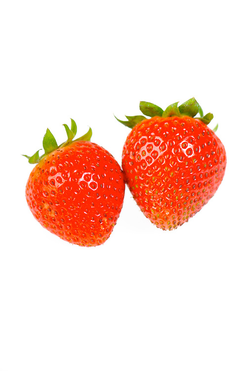 Strawberry against a white background